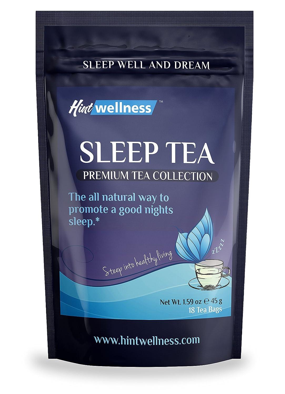 Sleep Tea - Natural Sleep Aid With Valerian Root and Chamomile - Herbal  Sleep Aid Tea By Hint