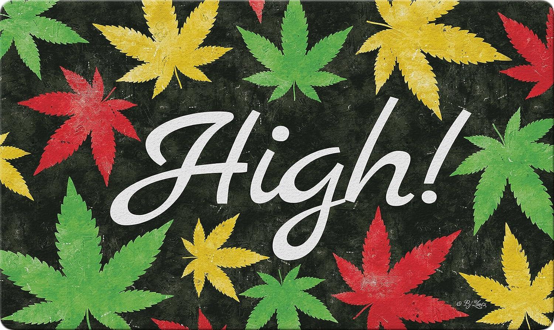 "Toland Home Garden 800442 Weed High Doormat, 18"" x 30"", Multicolor"