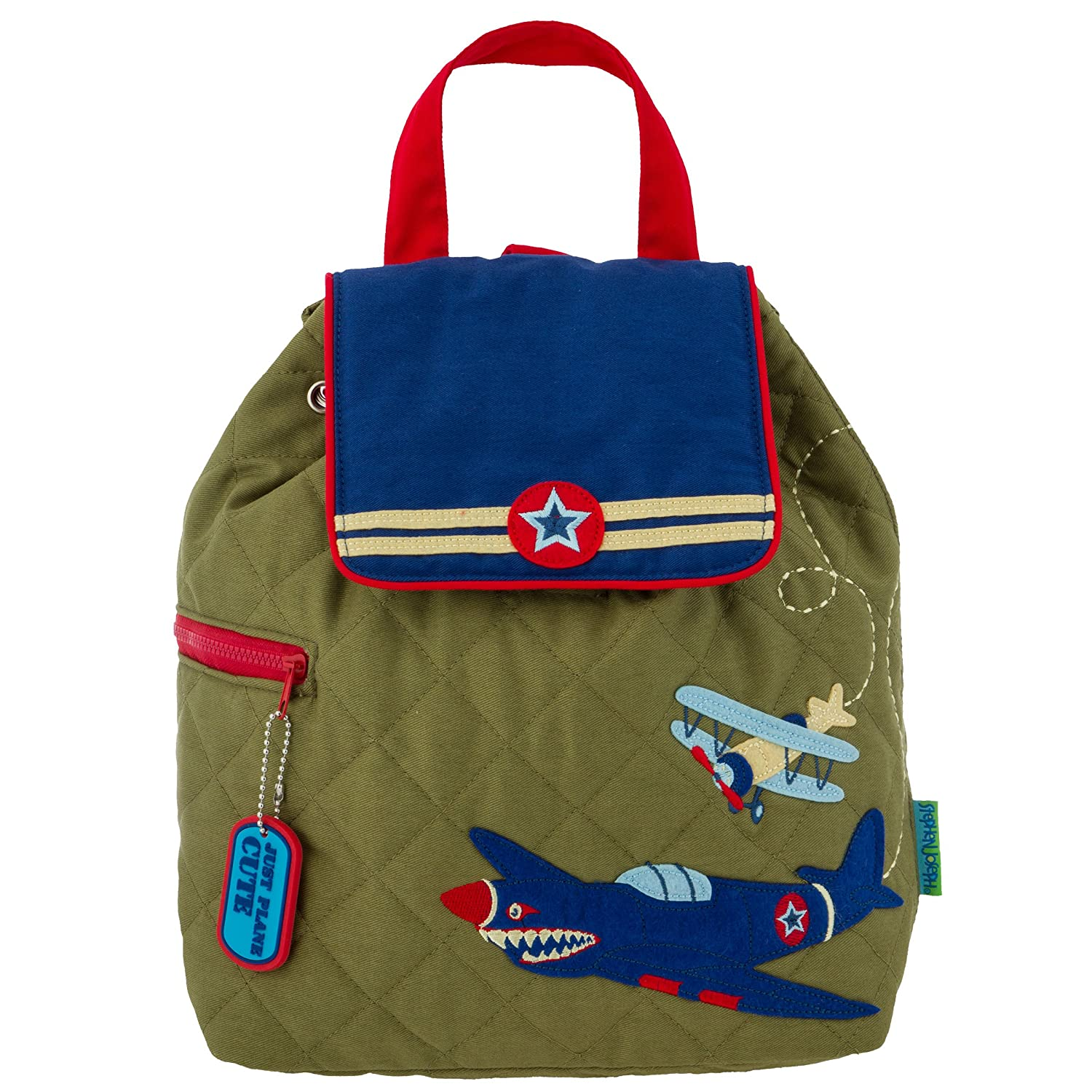 Stephen Joseph Quilted Backpack Accessory Airplane No Size SJ100181B