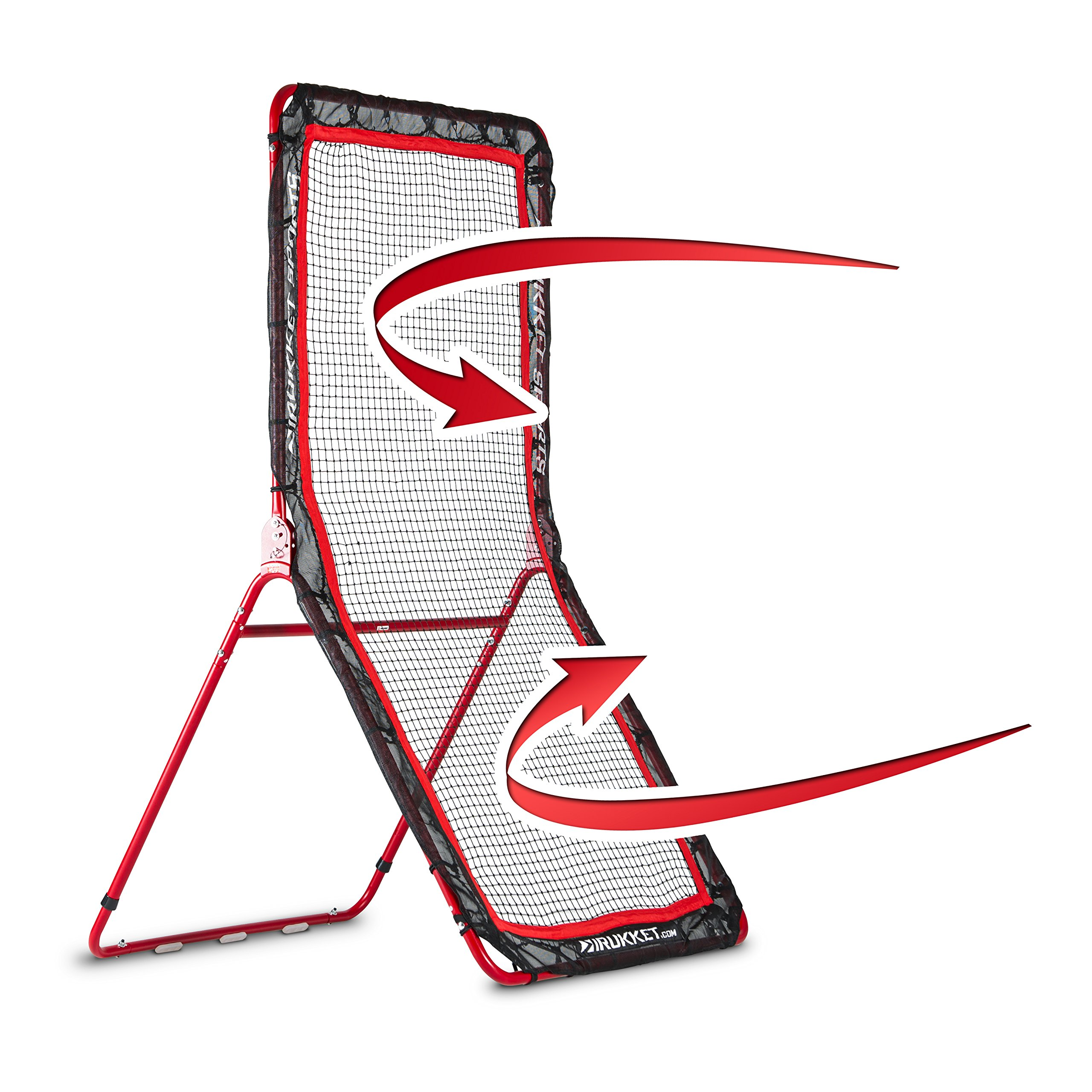 Rukket 4x7ft Baseball / Softball / Lacrosse Rebounder Pitchback Training Screen | Practice Pitching and Throwing by Rukket Sports