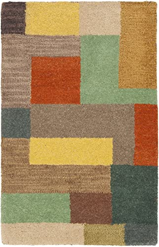 Safavieh Soho Collection SOH923A Handmade Modern Abstract Multicolored Premium Wool Area Rug 2 x 3