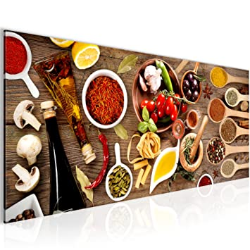 Bilder Küche - Gewürze Wandbild 100 x 40 cm Vlies - Leinwand Bild ...