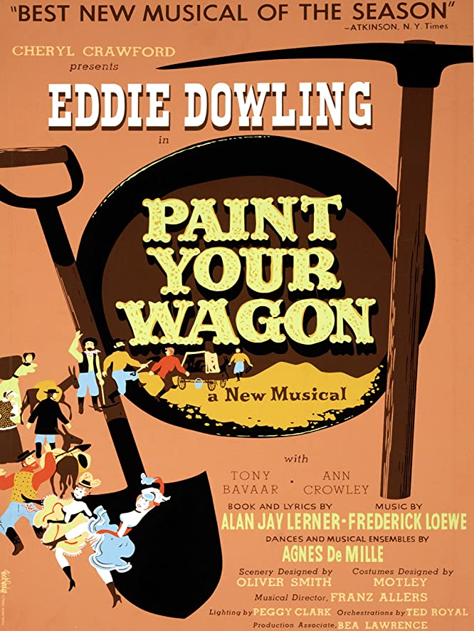 Amazon.com: ADVERT THEATRE STAGE MUSICAL PAINT YOUR WAGON GOLD ...