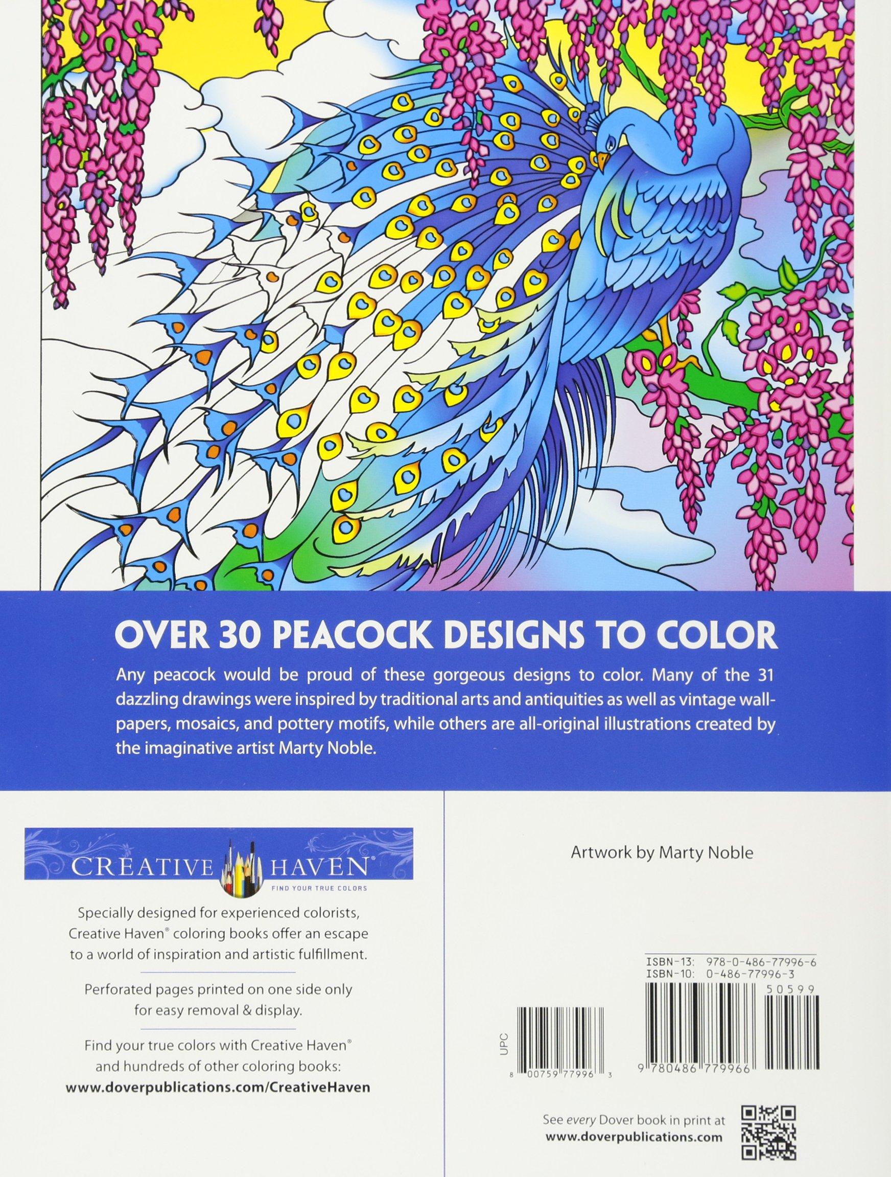 Creative Haven Peacock Designs Coloring Book Books Marty Noble 9780486779966 Amazon