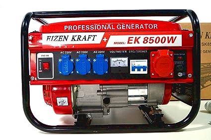 KRaftech – Generador de energía 6000 W a refrigerado por aire, 6,5 CV