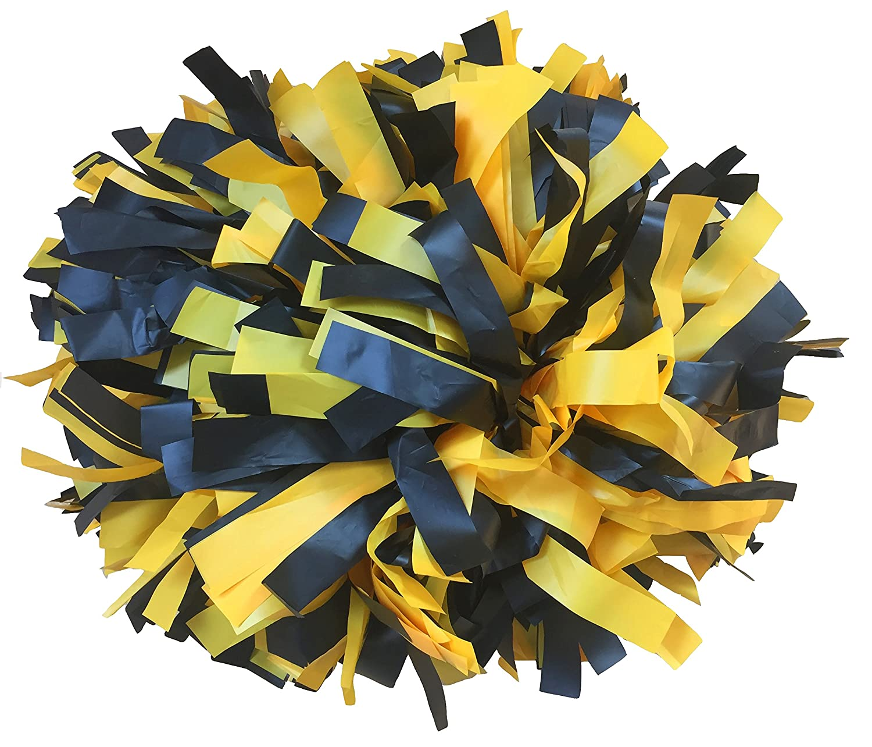 Paire- Pom-pom girl Plastique Cheerleading Pompons avec bâton poignée Jawl