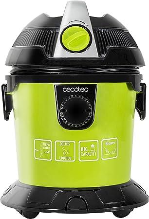 Aspirador de sólidos y líquidos de 1000 W. Regulador de potencia. Función sopladora. 5 accesorios. Filtro HEPA. Capacidad 10 L. Ruedas. Wet&Dry Easy de Cecotec.: Amazon.es: Hogar