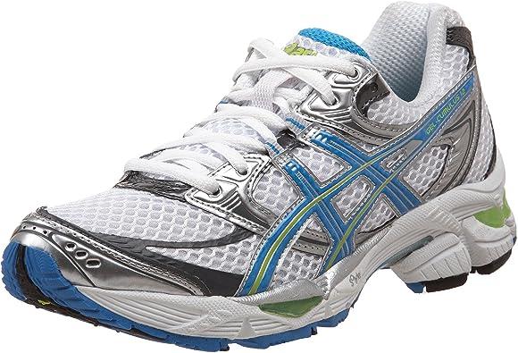 Running Shoe, White/Brilliant Blue/Lime