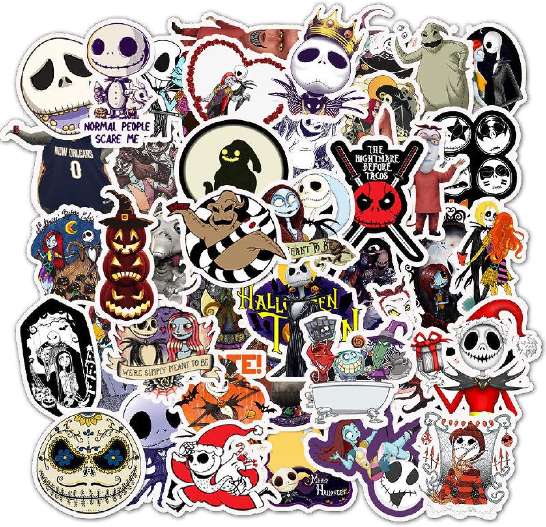 50pc Sticker skull Decal Vinyl Roll Car Skate Skateboard Graffiti Laptop Luggage