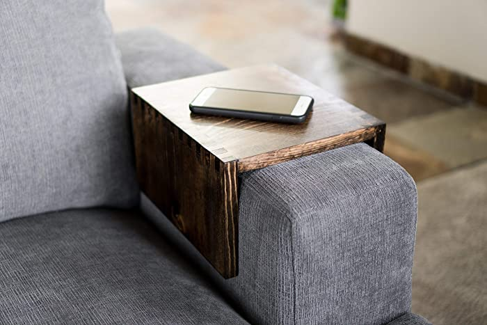 Fabulous Amazon Com Wood Couch Arm Tray Table Custom Wood Table Caraccident5 Cool Chair Designs And Ideas Caraccident5Info