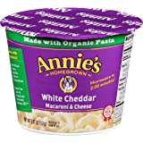 Annie's Macaroni and Cheese, Microwave Cups, Pasta & White Cheddar Mac and Cheese, 2.01 oz Cup (Pack of 12)