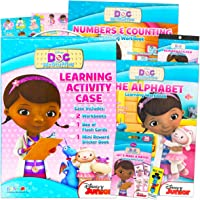 Doc McStuffins Kids Learning Activity Kit - Super Bundle Set Includes 2 Learning Activity Books, Memory Flashcards…