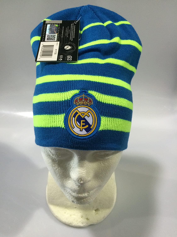 Amazon.com : Real Madrid FC Blue/Neon Winter Beanie (OSFM) : Sports & Outdoors
