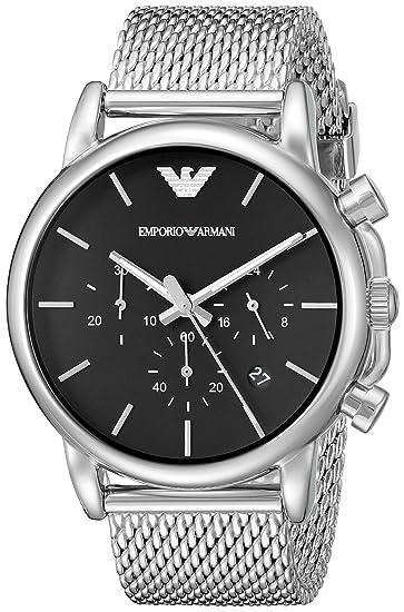 29c37ca4058a Emporio Armani Reloj para Hombre de Cuarzo con Correa en Acero Inoxidable  AR1811  Emporio Armani  Amazon.es  Relojes
