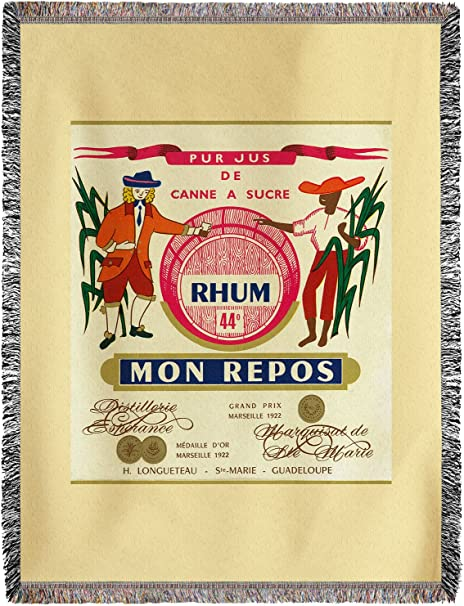 Lantern Press Rhum Mon Repos marca etiqueta de Ron (60 x 80 ...