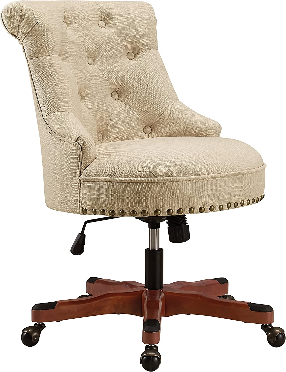 Linon Home Décor Leslie Beige Office Chair