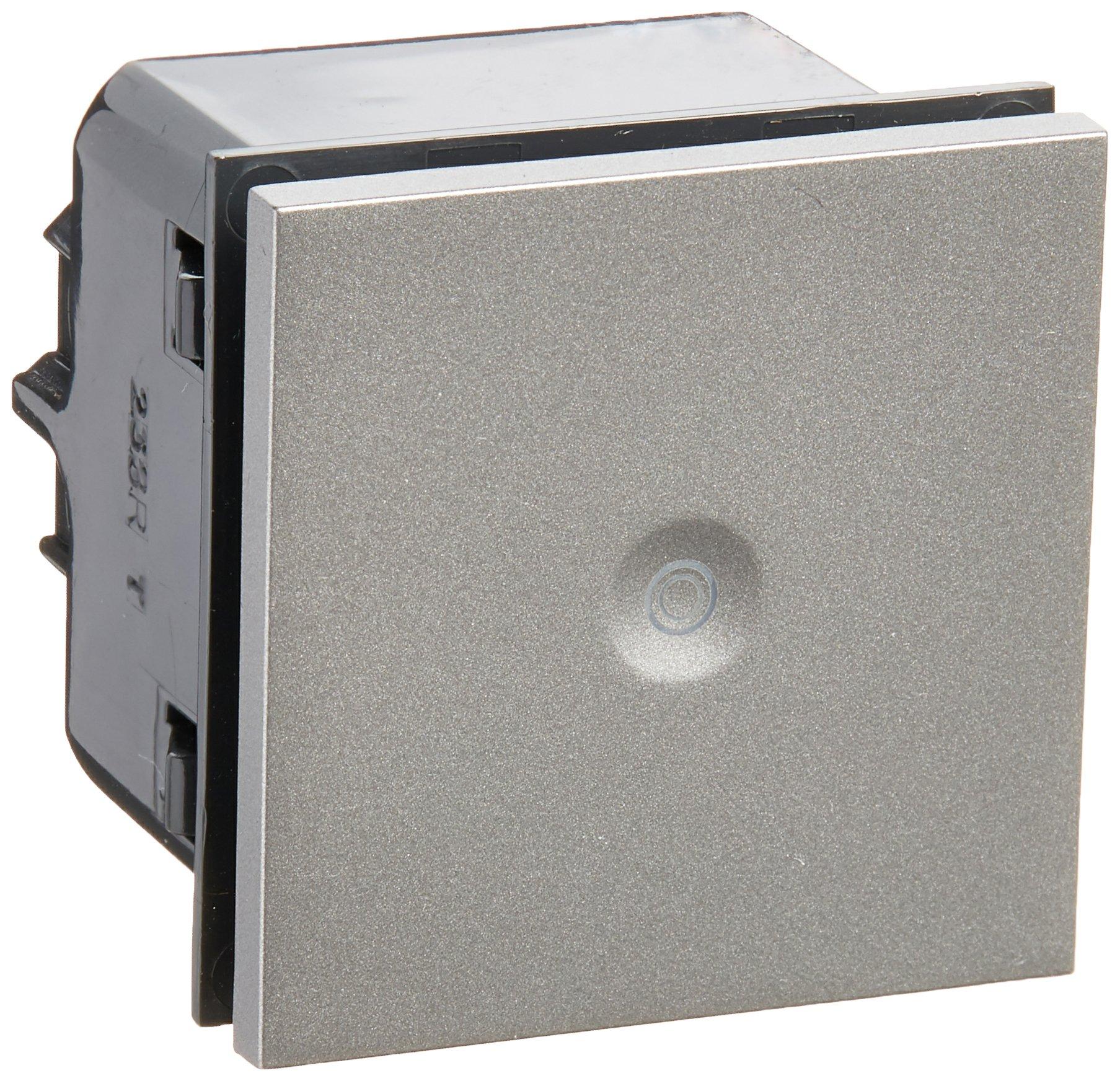 PASS & SEYMOUR ASPU1532M4 Adorne 15 Amp Magnesium Push Switch