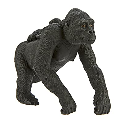 Safari Ltd Wild Safari Wildlife – Lowland Gorilla with Baby – Realistic Hand Painted Toy Figurine Model – Quality Construction from Safe and BPA Free Materials – For Ages 3 and Up: Toys & Games