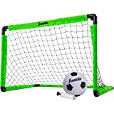 Franklin Sports Kids Mini Soccer Goal Set - Backyard/Indoor Mini Net and Ball Set with Pump - Portable Folding Youth…