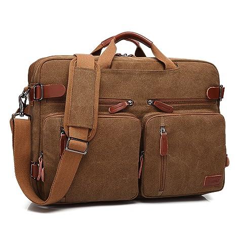 Coolbell maletin portatiles de Hombro Convertible en Mochila para Guardar Ordenadores Maletín de Negocios Mochila de