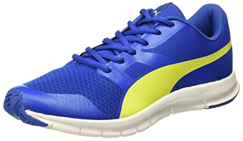 926c4e5f174 Puma Unisex s Flexracer Lapis Blue-Nrgy Yellow Running Shoes-11 UK India (