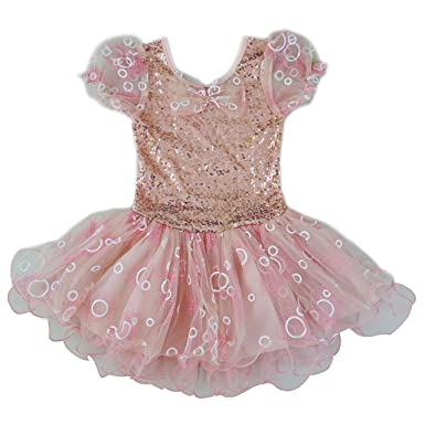 Amazon.com  wenchoice Pink Sequin-Accent Lace Skater Dress - Girls ... 3205cf9ad