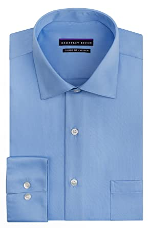 bc0a8a9259c Geoffrey Beene Men s Regular Fit Sateen Shirt at Amazon Men s Clothing  store