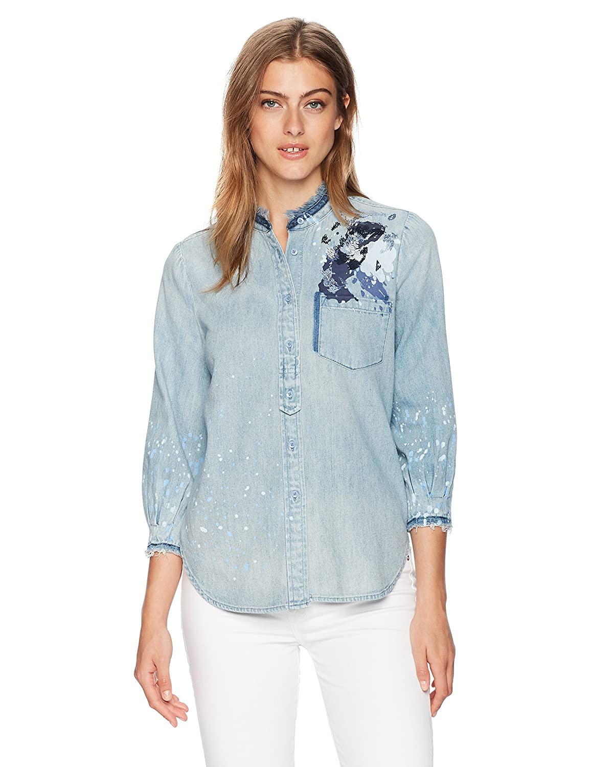 AG Adriano Goldschmied Womens Courtney Button Up