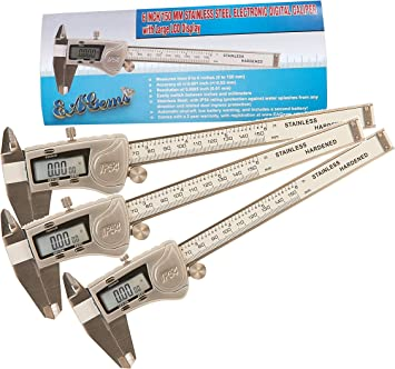 Digital Electronic Caliper  Reading Inch Fractional Large Stainless Waterproof