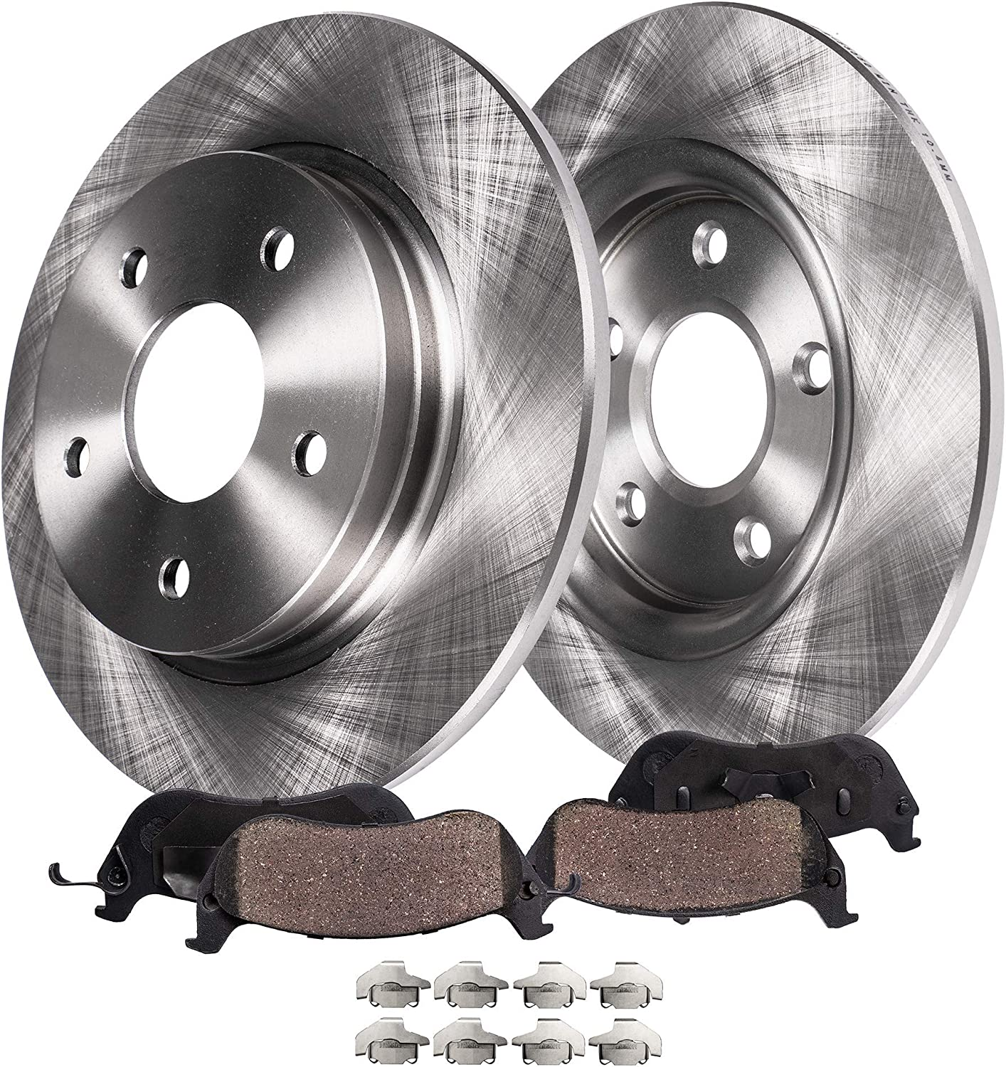 Rear Disc Brake Rotors And Semi-Metallic Pads Kit For Ford Escape Mercury Mariner Mazda Tribute