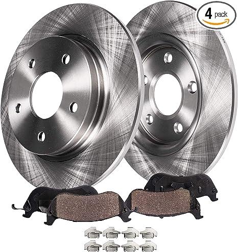For Ford Mazda Mercury Rear Brake Pad Set Slotted Ceramic /& Lubricant Brembo