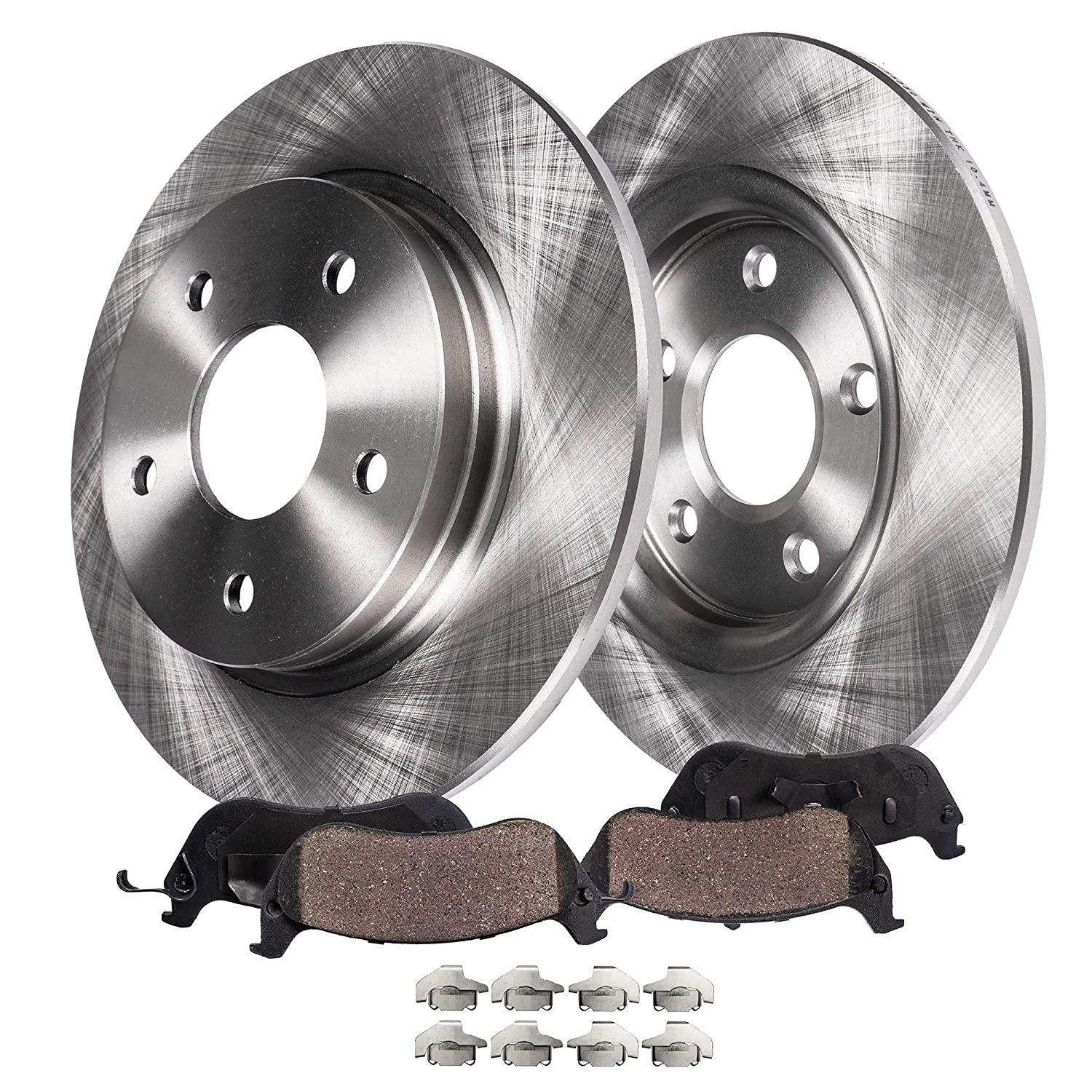 Detroit Axle - Rear Brake Rotors & Brake Pads w/Clips Hardware Kit for  2005-2008 Buick Allure- [2005-2009 Buick LaCrosse No Super] - 11-12 Chevy