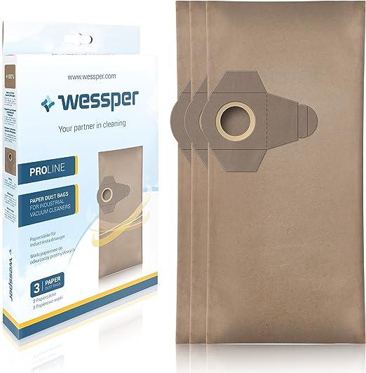 Wessper Bolsas de aspiradora para Einhell TH-VC 1820 S (3 Piezas ...