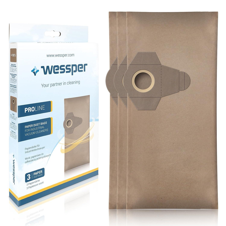 Wessper Bolsas de aspiradora para Parkside PNTS 1500 A1 (3 Piezas ...