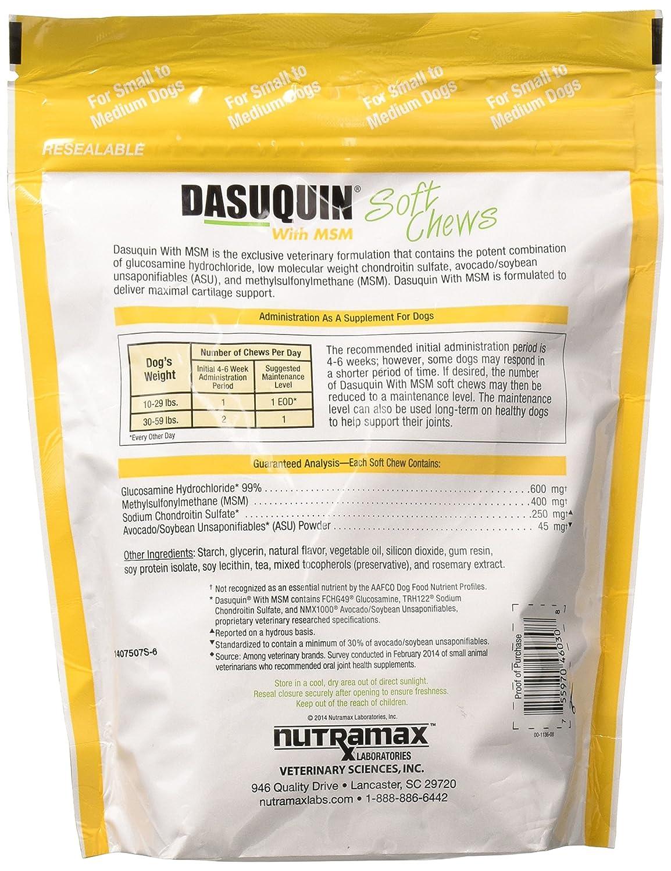 Amazon.com: 3 Pack Dasuquin suave Chews para pequeñas y ...