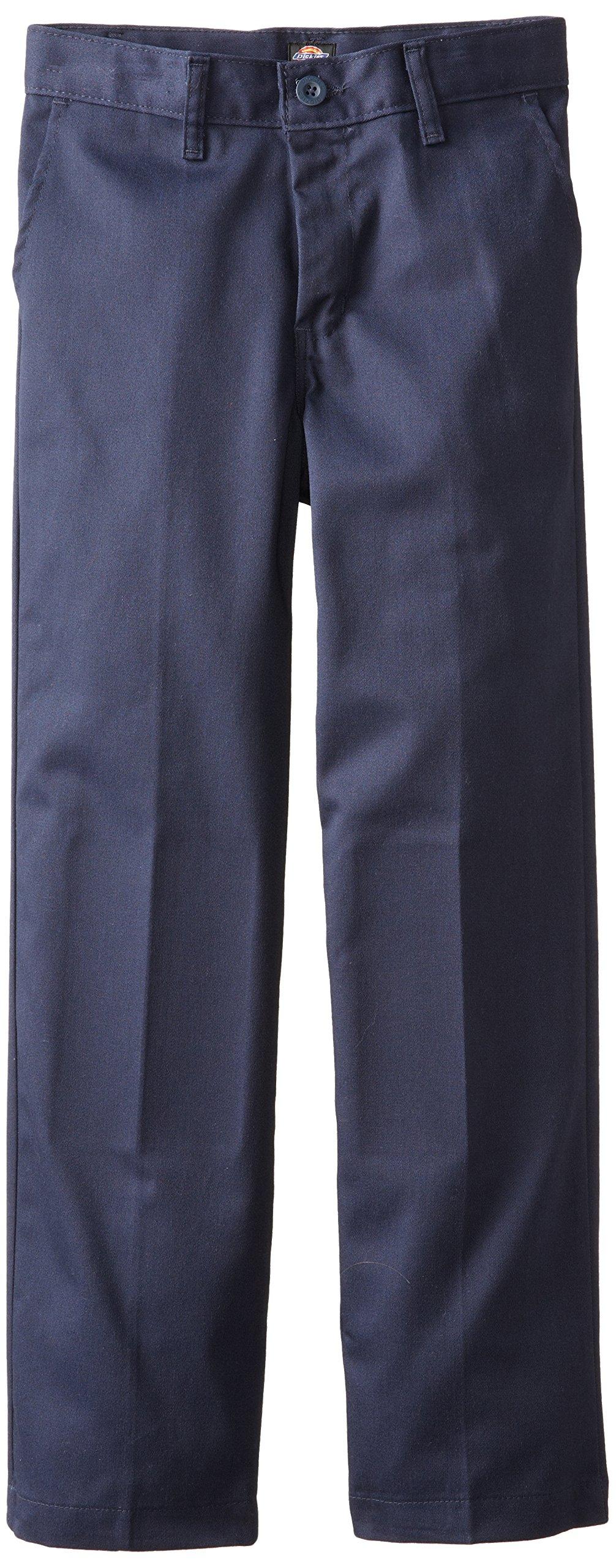 Dickies Khaki Big Boys' Flex Waist Stretch Pant, Dark Navy, 8 Regular