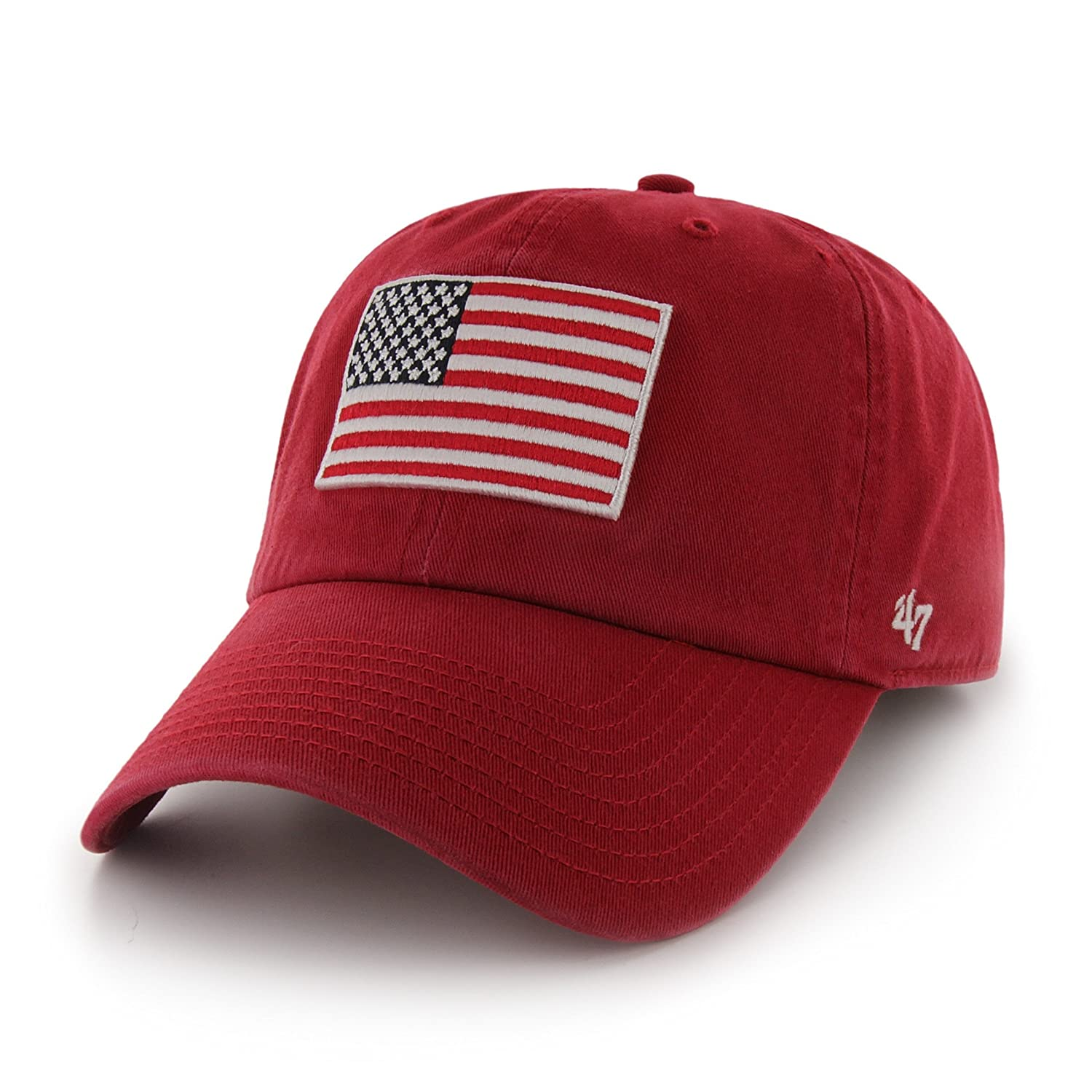 Amazon com : '47 USA Country Flag Clean Up Adjustable Cap