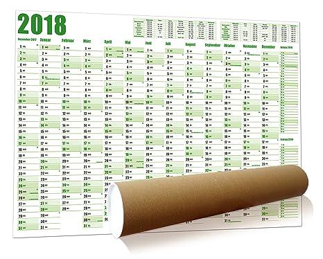 Calendario Da Parete Grande.Calendario Da Parete 2018 Xxl Grande Arrotolato In Formato