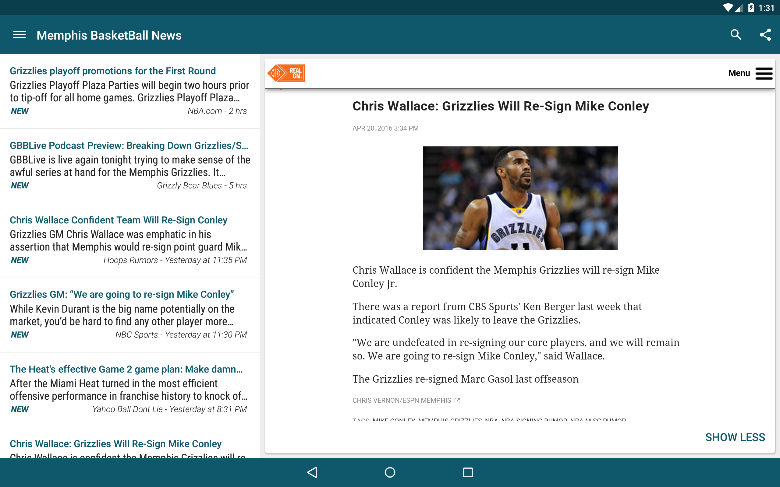 Amazon com: Memphis Basketball News: Appstore for Android