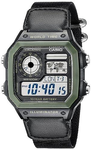 Amazon.com: Casio De los hombres ae1200whb-1bv Negro Resina ...