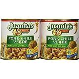 Juanita's CHILE VERDE Pork & Green Chile Sauce 25oz (2 Cans)