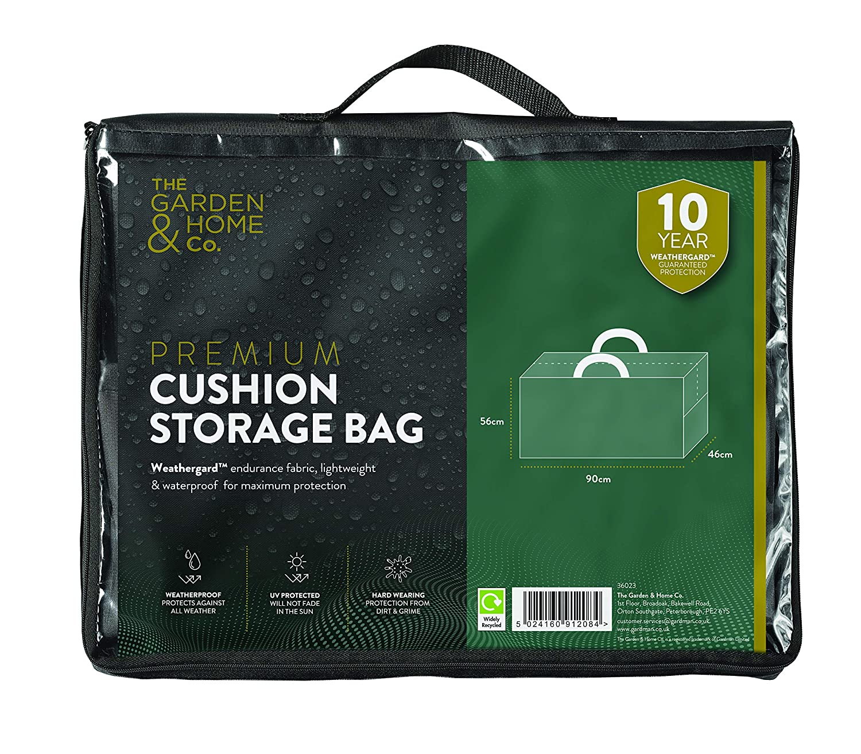 The Garden & Home Co Cushion Storage Bag, Green Gardman 37023