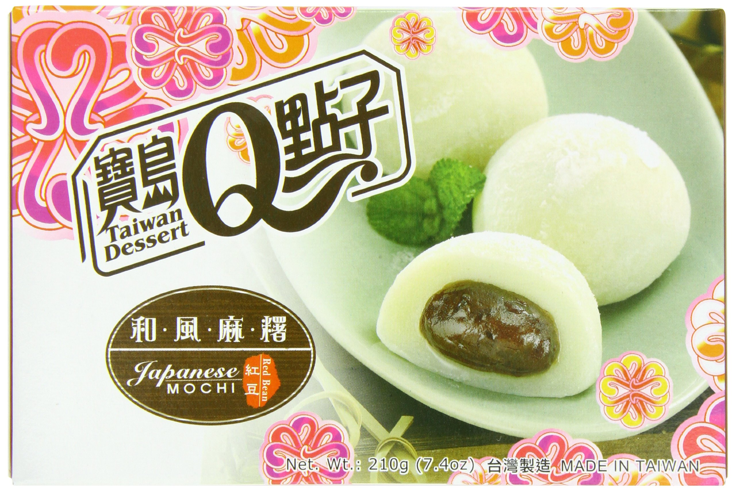 Royal Family Japanese Rice Cake Mochi, Red Bean, 7.41 Ounce (Pack of 24) by Royal Family