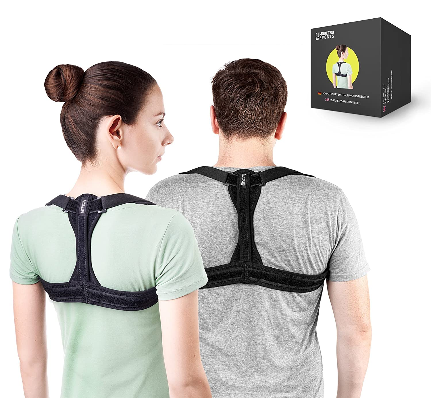 6f9bdc0d50a Modetro Sports Posture Corrector Spinal Support - Physical Therapy Posture  Brace for Men or Women - Back