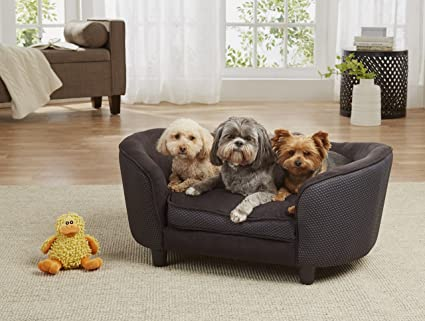 Charmant Enchanted Home Pet Hudson Ultra Plush Bed, Dark Grey