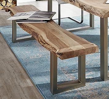 SAM Sitzbank, 195x38cm, indisches Akazien-Holz, Madras, massive Holz ...