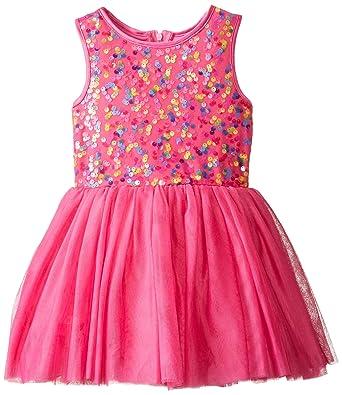 6529bb670d7e Amazon.com  Pippa   Julie Little Girls  Rainbow Sequin Party Dress ...