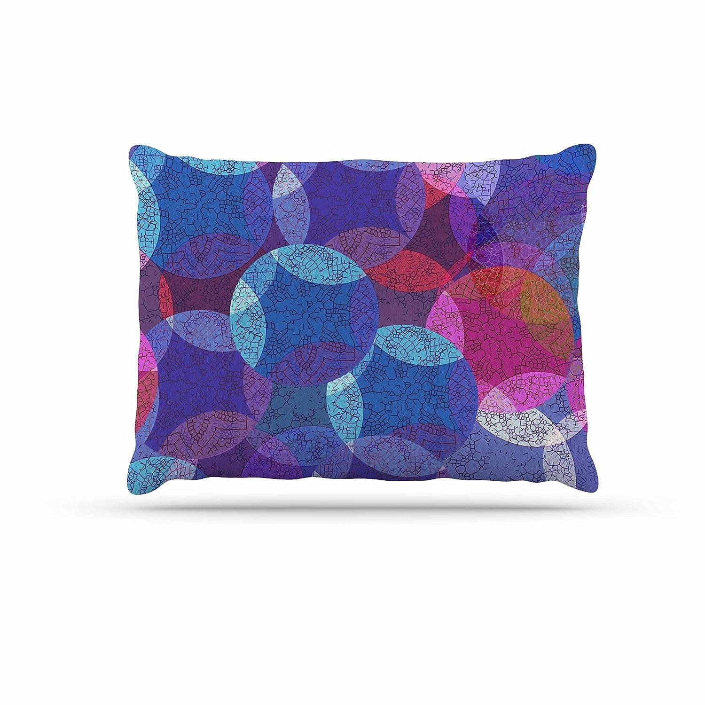 KESS InHouse Fernanda Sternieri Happy Path in Coral Pattern Dog Bed, 30  x 40