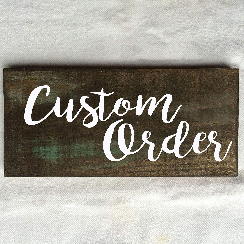 Custom Text Rustic Wooden Sign 12X6