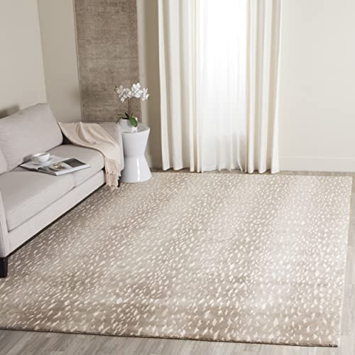 Safavieh Tibetan Collection TB250D Hand-Knotted Grey Wool Area Rug 9' x 12'